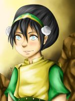 Toph Beifong - Digital portrait (video) by artbox99