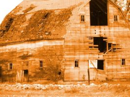 Sepia Barn by Littlelion225