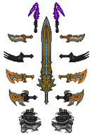 Micro181 Kratos Weapons by Microman181