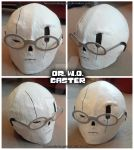 Handplates - W.D. Gaster Cosplay Head by InnocentiaSanguinis