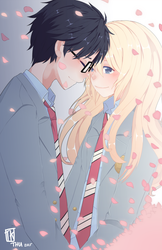 Your lie in April by BottleWonderland
