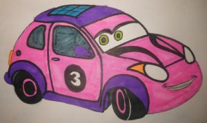 Roary the racing car: Cici Pixar's Cars style by sgtjack2016
