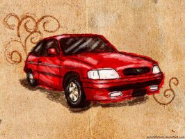 Ford Escort - Color by punksafetypin