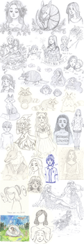 Sketches + Drawings [1/2018] by Kirschpraline