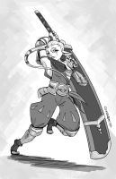 Impa Sketch by Curly-Artist