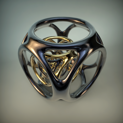 Black Metal and Rose Gold MB3D Export by ViraA