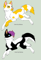 2 wolf up for sale each 10p open 1/2 by Xxwhitewolf-lonerxX