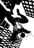 Spider-Man in his Black Costume by StevenWilcox
