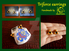 Triforce earrings by Ishtar-Creations