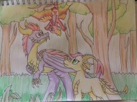 This is my forest! Get out! by LordOfTheFeathers