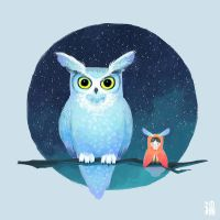 My owl friend by minayuyu