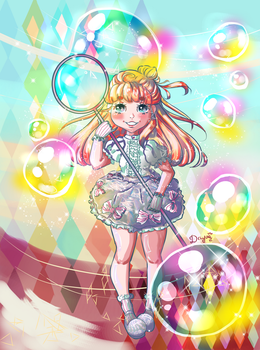 Bubble Magic Girl by Dayoii
