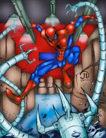 Spider-man battle CLRS by Comicfanatic83