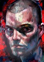 Selfportrait with shaved head by nailone