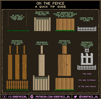 How to draw fences - quick tips and references by SadfaceRL