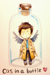 Cas in a bottle by focaccina