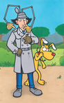 Inspector Gadget and Brain by Yamallow