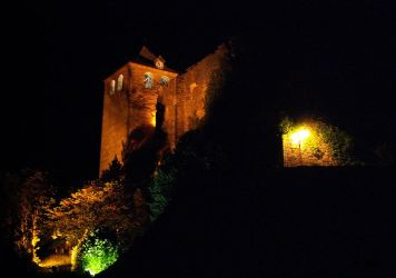 Montvalent fortress at night by HermitCrabStock