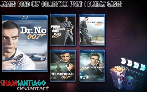 James Bond 007 Collection Part 1 Bluray Cases by ShamSantiago
