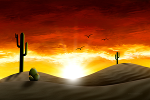 Saguaro Sunrise by NinthTaboo