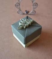 Origami Box with Quilled Ornament by ReverseCascade