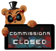 Freddy Commissions Closed Stamp by InkCartoon