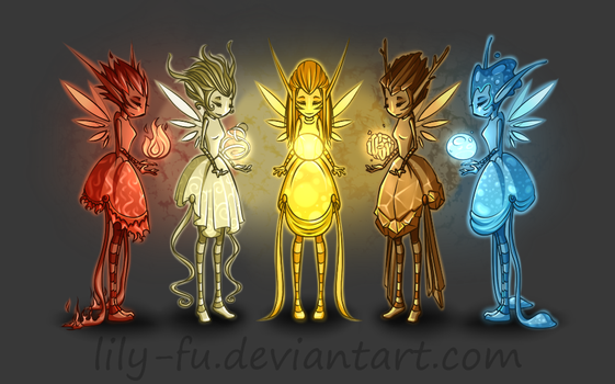 Elemental Fairies by Lily-Fu