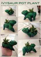 Ivysaur Pot Plant by Teggy