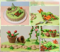 Garden  cake by Mandy0x