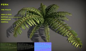 Free Fern Pack by Yughues