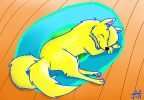 Amia Sleeping by Senackichan