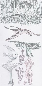 Creature doodles, the second by Ramul