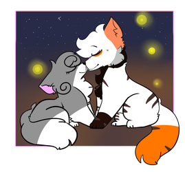 One Kiss {WhiteSwipe and LilyFeather} by WolfehTheArtist