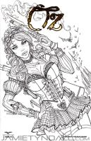 Steampunk Dorothy on Oz sketch cover commission by jamietyndall