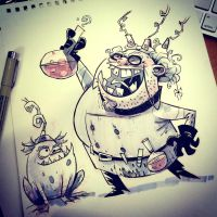 SketchBomb - New Delhi #3 : Mad Scientist by kshiraj
