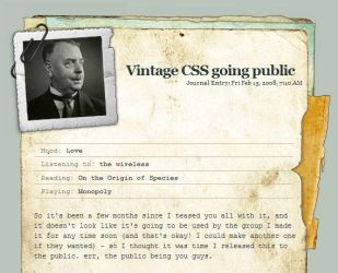Vintage CSS - updated by thespook