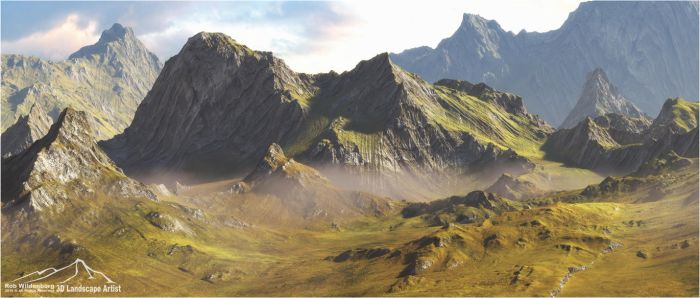 Peaks by 3DLandscapeArtist