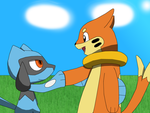 Sherman's Riolu and Buizel: Friendship by PokemonXYLover1998