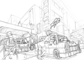 lenny in city 2point  WIP by Alberto-Rios
