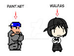 Paint.net and Walfas by Godeung