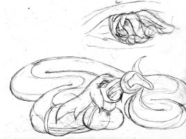 Snake Kani and Eka p2 -sketch- by requiems-dirge