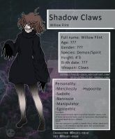 Creepypasta - Shadow Claws - NEW ref Sheet - by Deaki-chan