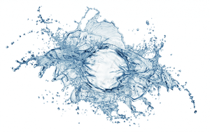 Spray water on a transparent background. by PRUSSIAART