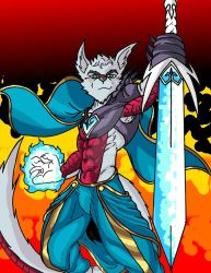 Fenril the dragon warrior by Caeonwaters