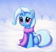 Trixie does not like the cold. by CTB-36