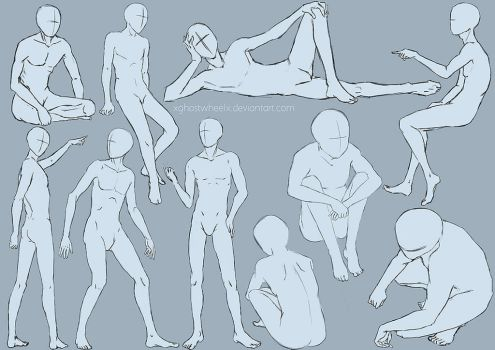 Male pose study - sketch by xghostwheelx