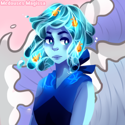  SU  Bob with Water Hair + Redbubble by Amethxste