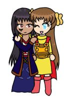 Mary and Marian chibis by PuddingValkyrie
