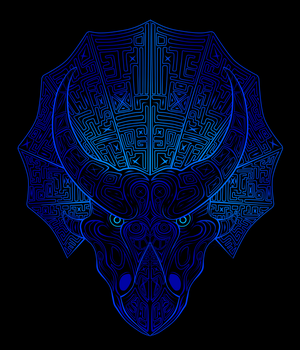 Trippy Triceratops by FantwineTheDemon