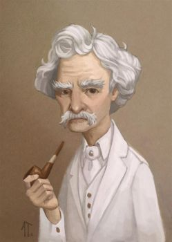 Mark Twain by AlyssaTallent